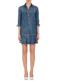 Robert Rodriguez Women's Ruffled-Hem Cotton Denim Shirtdress