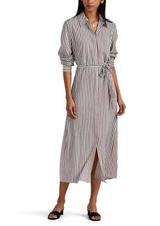 Robert Rodriguez Women's Striped Crêpe De Chine Long Shirt