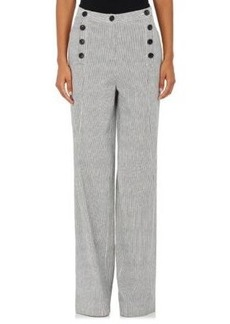 Robert Rodriguez Women's Striped Oxford Cloth Wide-Leg Sailor Trousers