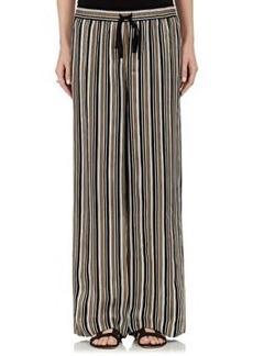 Robert Rodriguez Women's Striped Silk Drawstring-Waist Pants