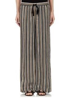Robert Rodriguez Women's Striped Silk Drawstring-Waist Pants