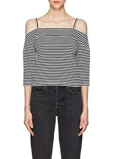 Robert Rodriguez Women's Striped Stretch-Cotton Cold-Shoulder Top