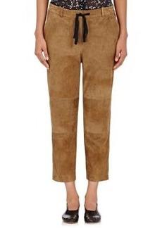 Robert Rodriguez Women's Suede Drawstring Pants
