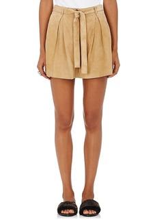 Robert Rodriguez Women's Suede Tie-Front Shorts