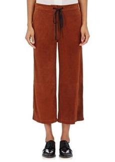 Robert Rodriguez Women's Suede Wide-Leg Crop Pants