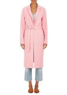 Robert Rodriguez Women's Wool-Cashmere Melton Belted Wrap Coat