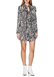 Robert Rodriguez Women's Zebra-Print Tie-Waist Dress