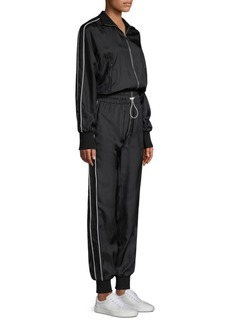 Robert Rodriguez Silk Striped Jumpsuit