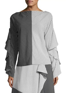 Robert Rodriguez Striped Colorblock Top