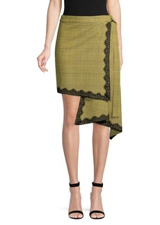 Robert Rodriguez Wrap Plaid Skirt