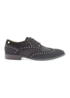 Robert Wayne Giles Animal Print Velvet Wingtip Oxford