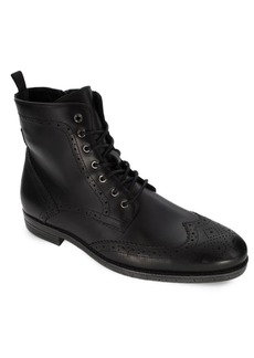 Robert Wayne Jacques Leather Lace-Up Ankle Boots