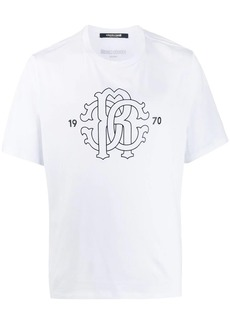 Roberto Cavalli 1970 monogram print T-shirt
