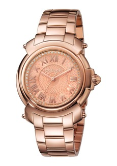 Roberto Cavalli 35mm Bracelet Watch  Rose IP