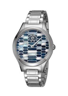 Roberto Cavalli 36mm Scaly Watch w/ Bracelet Strap  Steel