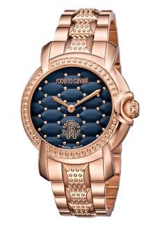 Roberto Cavalli 36mm Studded Rose Golden Bracelet Watch