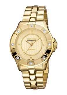 Roberto Cavalli 36mm Yellow Golden Diamond Bezel Watch