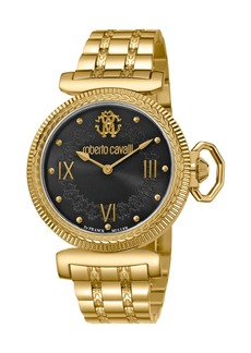 Roberto Cavalli 38mm Classic Bracelet Watch  Gold/Black