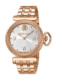 Roberto Cavalli 38mm Classic Bracelet Watch  Rose Gold