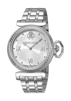 Roberto Cavalli 38mm Classic Bracelet Watch  Silver