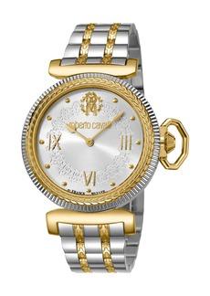 Roberto Cavalli 38mm Classic Bracelet Watch  Silver/Gold