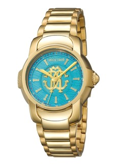 Roberto Cavalli 41.5mm Yellow Golden Stainless Steel Bracelet Watch
