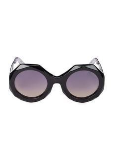 Roberto Cavalli 53MM Injected Geometric Sunglasses
