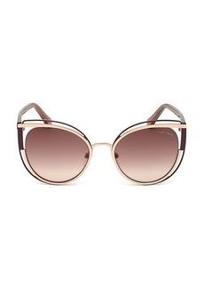 Roberto Cavalli 56MM Cat Eye Sunglasses