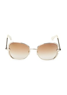 Roberto Cavalli 56MM Embellished Square Sunglasses
