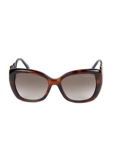 Roberto Cavalli 56MM Squared Cat Eye Sunglasses
