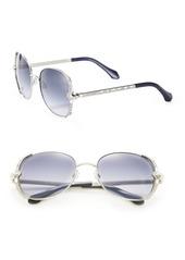 Roberto Cavalli 56MM Swarovski-Embellished Metal Sunglasses
