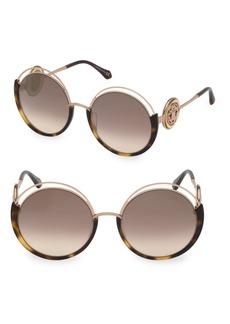 Roberto Cavalli 58MM Round Sunglasses