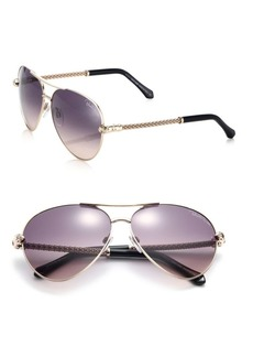 Roberto Cavalli 61MM Aviator Metal Sunglasses