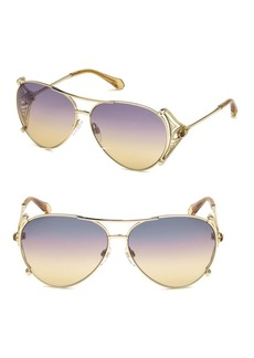Roberto Cavalli 61MM Aviator Sunglasses