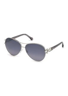 Roberto Cavalli 61mm Aviator Sunglasses