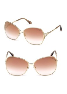 Roberto Cavalli 61MM Oversized Square Sunglasses