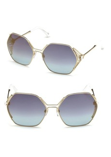 Roberto Cavalli 63MM Geometric Sunglasses