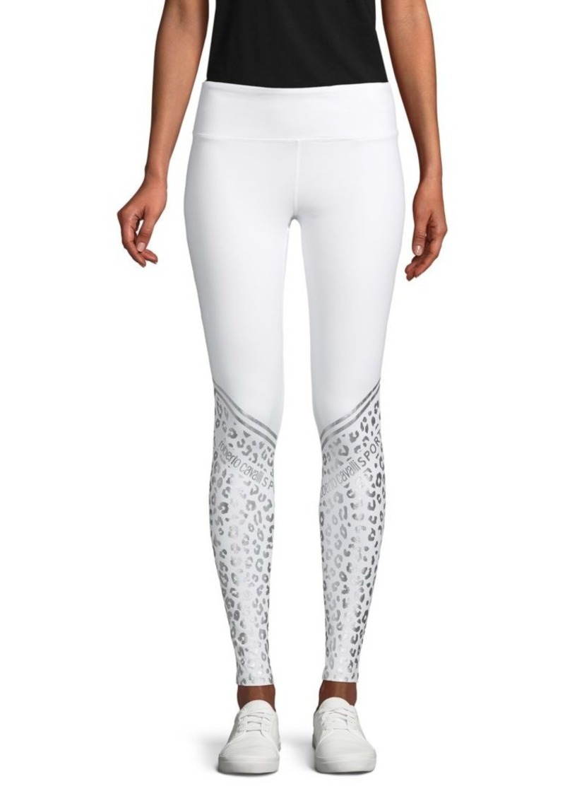 Roberto Cavalli Animal-Print Stretch Leggings