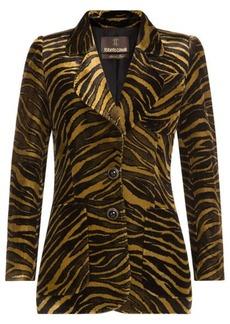 Roberto Cavalli Animal Print Velvet blazer