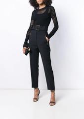 Roberto Cavalli belted high waist trousers