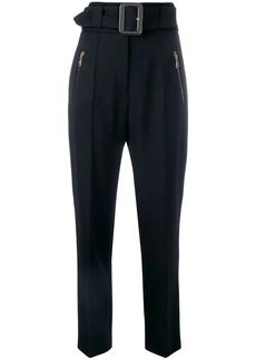 Roberto Cavalli belted high waist trousers