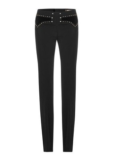 Roberto Cavalli Bootcut Pants with Stud Embellishment