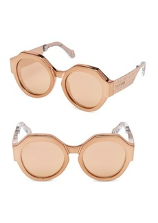 Roberto Cavalli Bronze Round Sunglasses/56MM