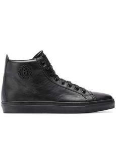 Roberto Cavalli calf leather hi-top sneakers