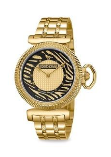 Roberto Cavalli Champagne Dial Animal Print Watch