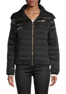 Roberto Cavalli Channel-Quilted Puff Jacket