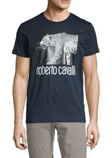 Roberto Cavalli Cheetah Cotton Tee