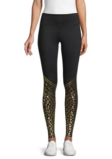Roberto Cavalli Cheetah-Print Pocket Leggings