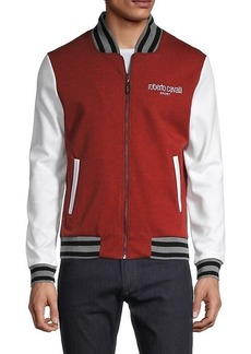 Roberto Cavalli Colorblock Varsity Jacket