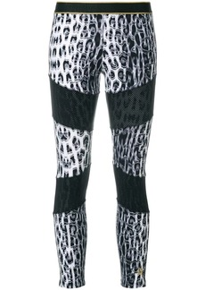 Roberto Cavalli contrast print leggings